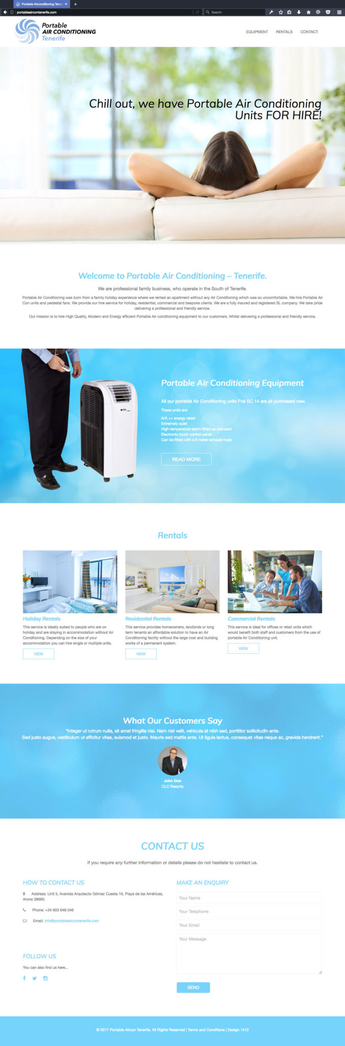 Portable Air Conditioning Tenerife